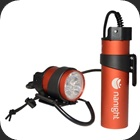 Light LED used as a main light with separate battery pack