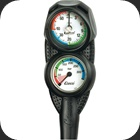 Cressi Console 2 with pressure and depth gauge