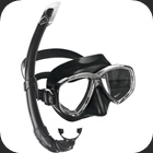 Mask and Snorkel set with Perla mask and Mexico snorkel