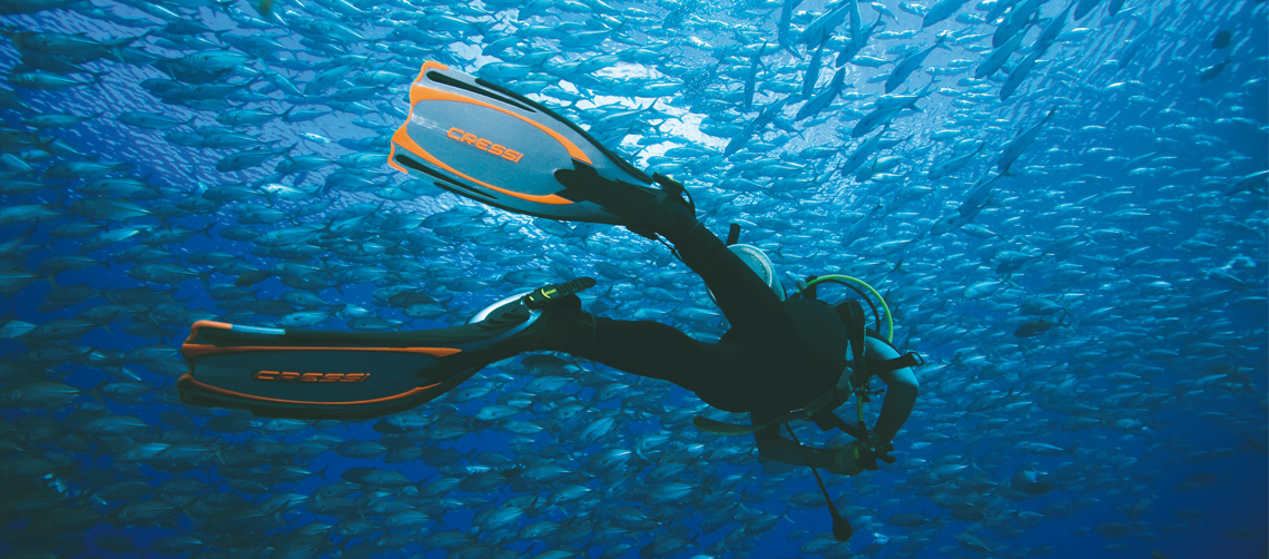 Cressi fins for Diving, Freediving and Snorkeling