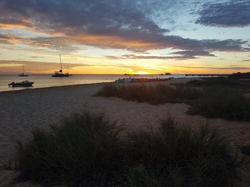 Sun rising over Shark Bay