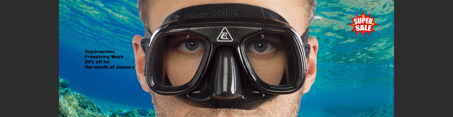 Superocchio Freediving Mask