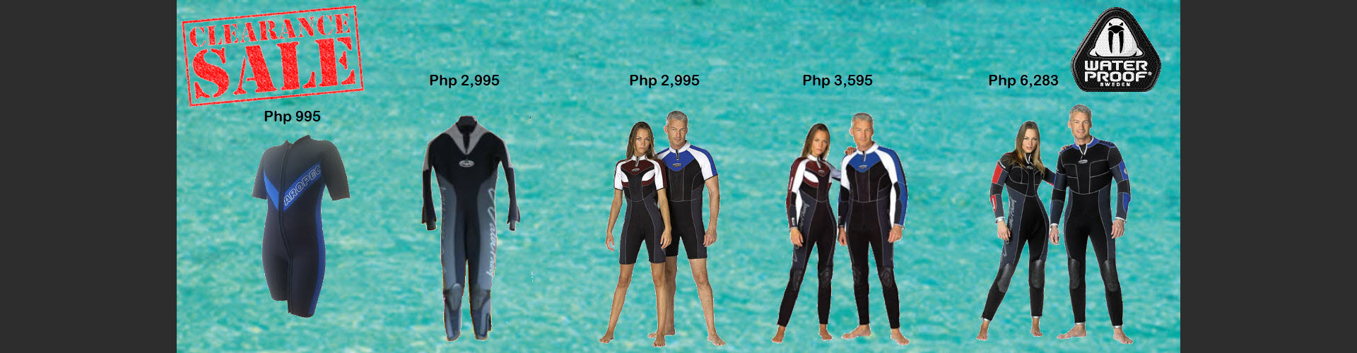 Wetsuit sales with price