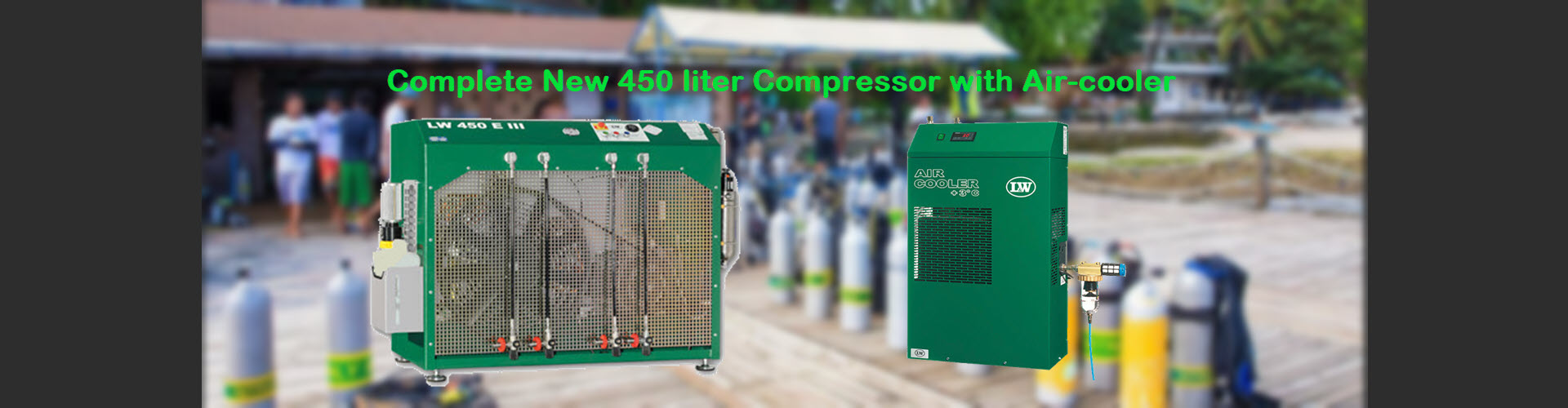 LW450E III compressor with Air-cooler